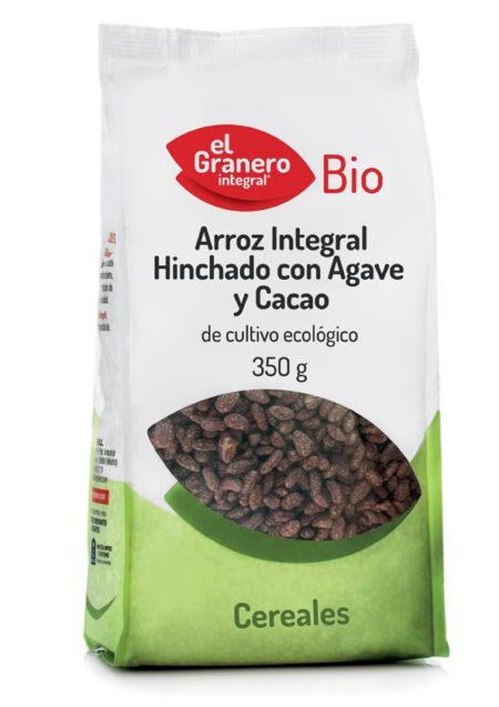 Arroz Integral Hinchado con Agave y Cacao 350g. El Granero Integral