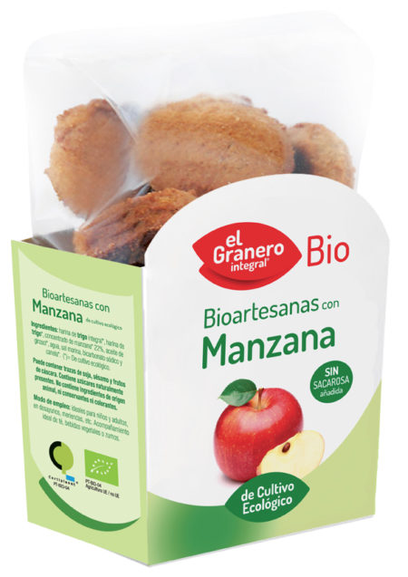 Bioartesanas con Manzana Bio 250g. El Granero Integral