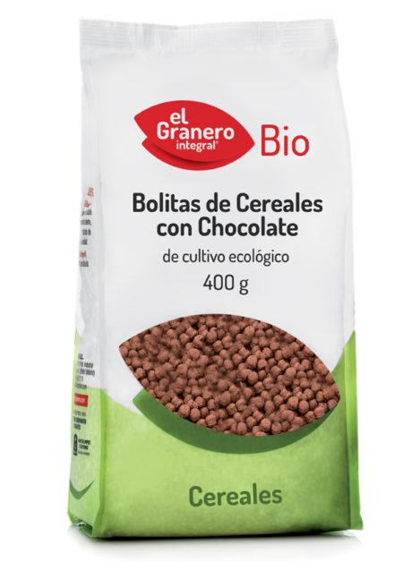 Bolitas de Cereales con Chocolate 400g. El Granero Integral