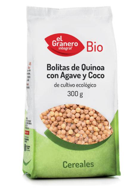 Bolitas de Quinoa con Agave y Coco Bio 300g. El Granero Integral