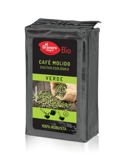 Café Verde Molido 100% Robusta Bio 250g. El Granero Integral