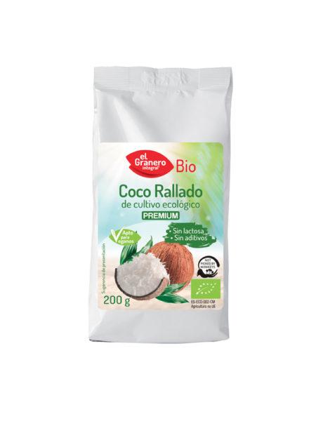 Coco Rallado Fino Premium Bio 200g. El Granero Integral