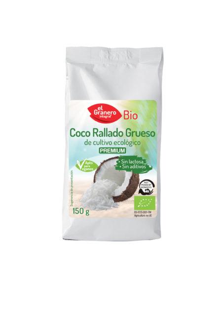 Coco Rallado Grueso Premium Bio 150g. El Granero Integral