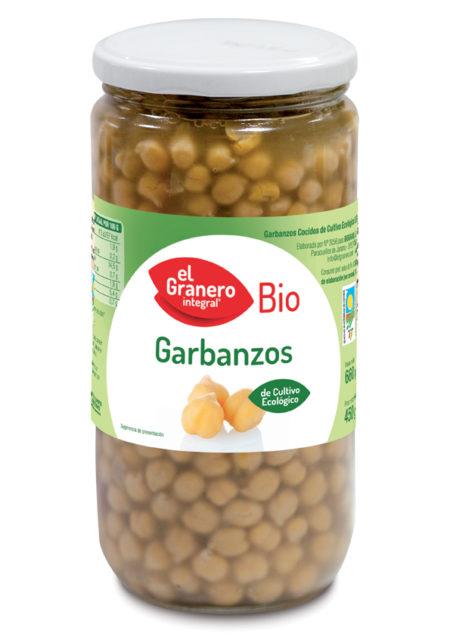 Garbanzos Cocidos Bio 660g. El Granero Integral