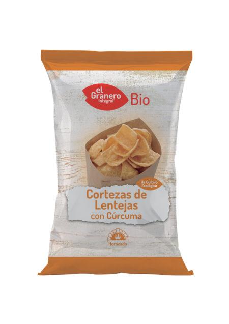 Cortezas de Lentejas con Cúrcuma Bio 65g. El Granero Intregral