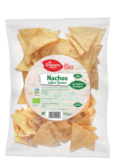 Nachos Sabor a Queso Bio 125g. El Granero Integral