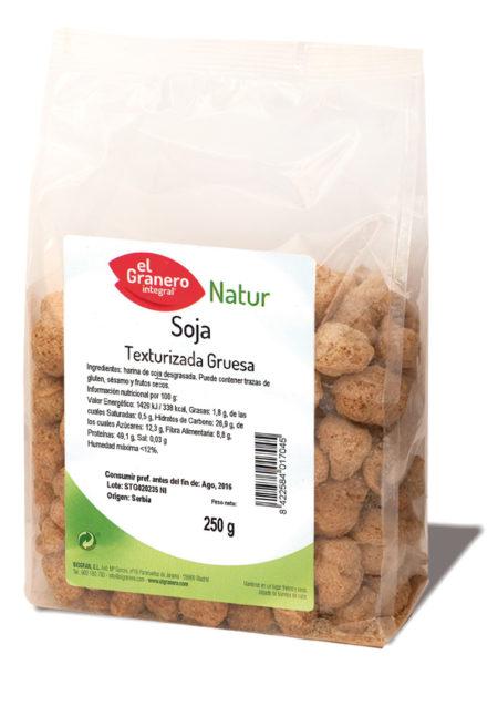 Soja Texturizada Gruesa Natur 250g. El granero Integral