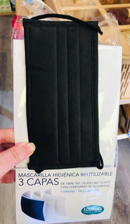 Mascarilla TNT 3 capas (Negra)